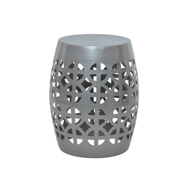 Artisan Pewter Garden Stool Side Table Free Shipping