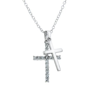 Eternally Haute Double Cross Pendant