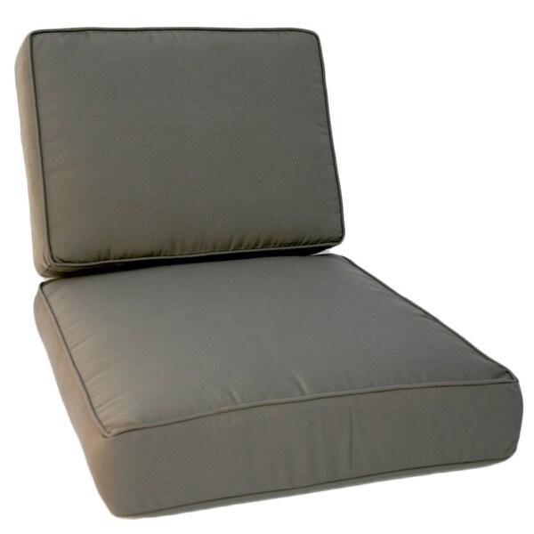 Trijaya Living Sunbrella Universal Canvas Charcoal Club Chair Cushion