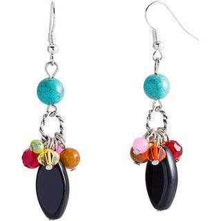 Sterling Silver Multi-gemstone Calypso Dangle Earrings