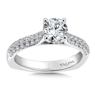 Valina 14k White Gold 1 1/10ct TDW Diamond Engagement Ring