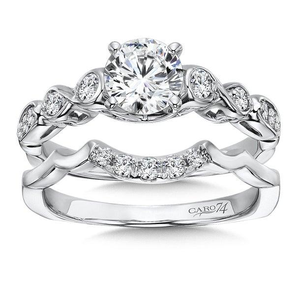 Caro 74 14k White Gold 1ct TDW Diamond Bridal Set