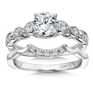Caro 74 14k White Gold 1ct TDW Diamond Bridal Set