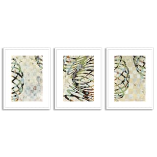 Gallery Direct Judy Paul's 'Twist I', 'II' and 'III' Art Three Piece Set