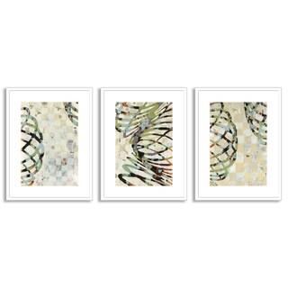 Gallery Direct Judy Paul's 'Twist I', 'II' and 'III' Art Three Piece Set