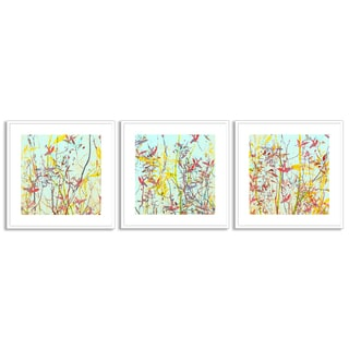 Gallery Direct Sia Aryai's 'Radiant Foliage I', 'II' and 'III' Art Three Piece Set