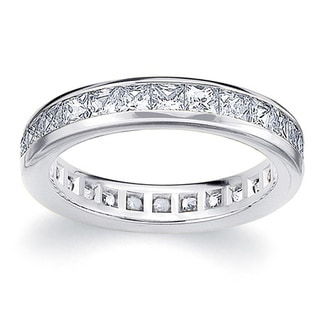 Amore Platinum 2ct TDW Princess Eternity Diamond Wedding Ring