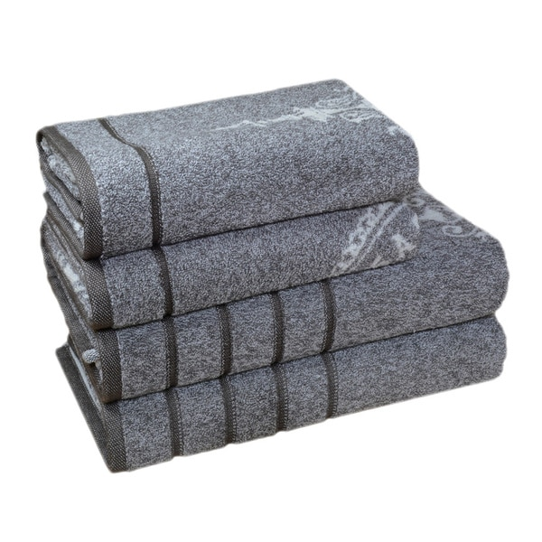 Enchante Vincente 100-percent Fine Turkish Cotton 4-piece Towel Set