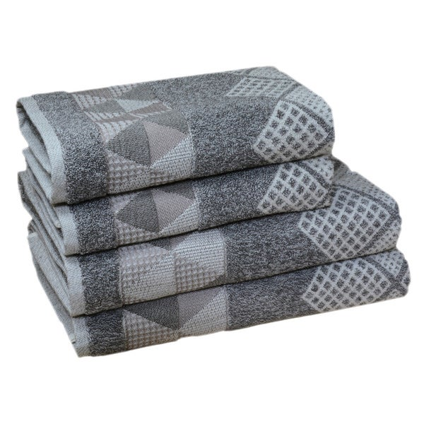 Enchante Concorde 100-percent Fine Turkish Cotton 4-piece Towel Set