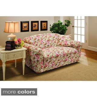 Sanctuary Stretch Jersey Floral Loveseat Slipcover