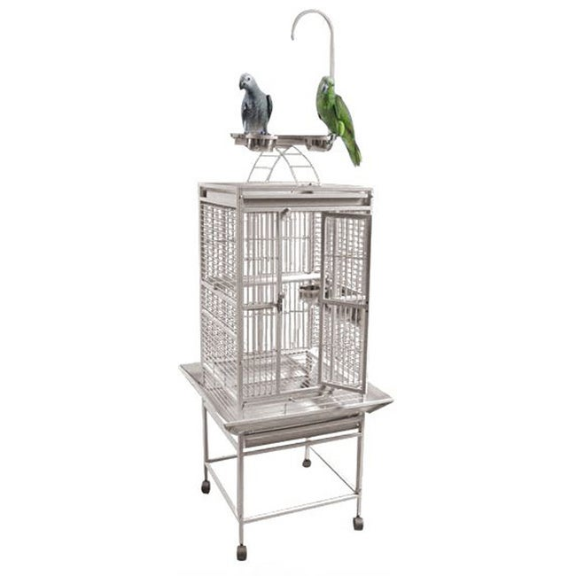 A&E Cage Play Top Bird Cage with Perch and Toy Hook (Blac...