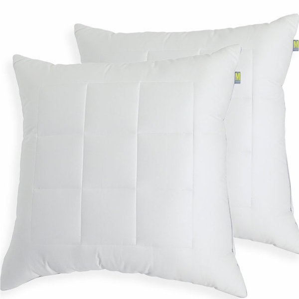 Maisn Luxe Ultimate Comfort & Support Luxury European Square Pillows (Set  of 2) -