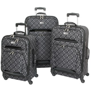 Geoffrey Beene Hearts 3-piece Spinner Luggage Set