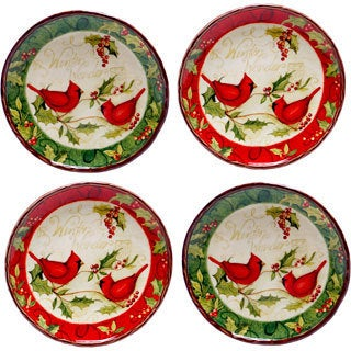 Certified International Winter Wonder Canape Plate (Set of 4)