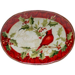 Certified International Winter Wonder Oval Platter
