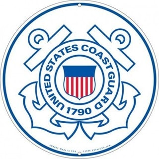 US Coast Guard Logo Aluminum Sign