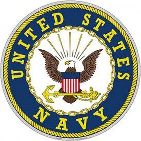 Shop Us Navy Logo Aluminum Sign On Sale Free Shipping