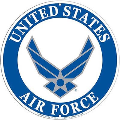 US Air Force Logo Aluminum Sign
