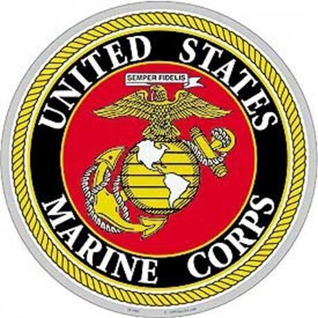 US Marine Corps Logo Aluminum Sign
