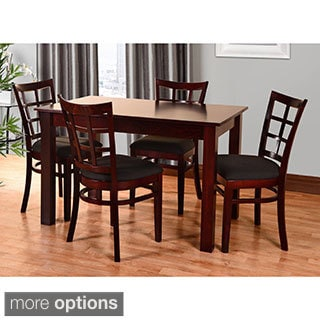 Lattice 5-piece Wood Dining Furniture Set