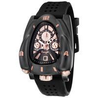 Rougois Men's Rose Goldtone/ Black Rocket Watch