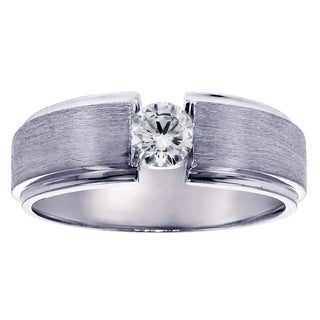 14k/ 18k White Gold Men's 1/3ct TDW Diamond Wedding Ring (G-H, SI1-SI2)