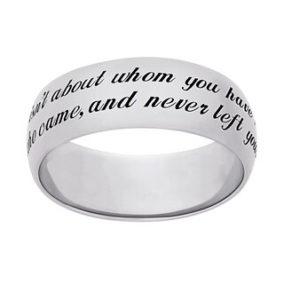 Sweet Sentiments Sterling Silver or Gold Over Sterling Silver 'Friends' Engraved Message Ring (More options available)