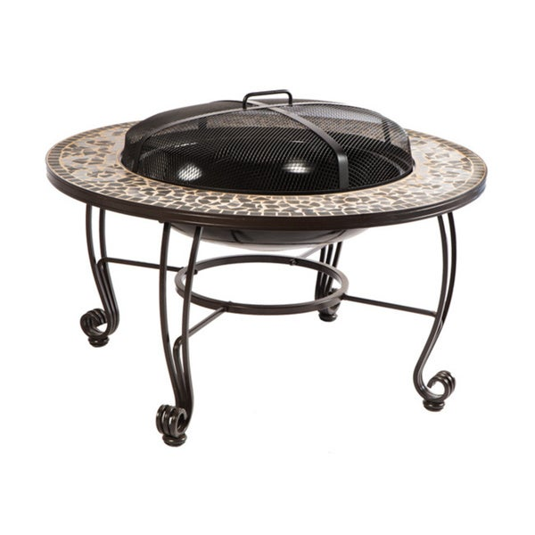 Shop Vulcano Mosaic Wood Burning Fire Pit Table - Free Shipping Today - Overstock - 9611013