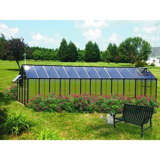 Monticello (8x24) Black Mojave Greenhouse