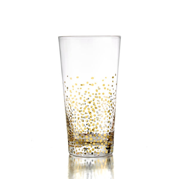 Fitz and Floyd Gold Luster Hiball Glasses (Set of 4)