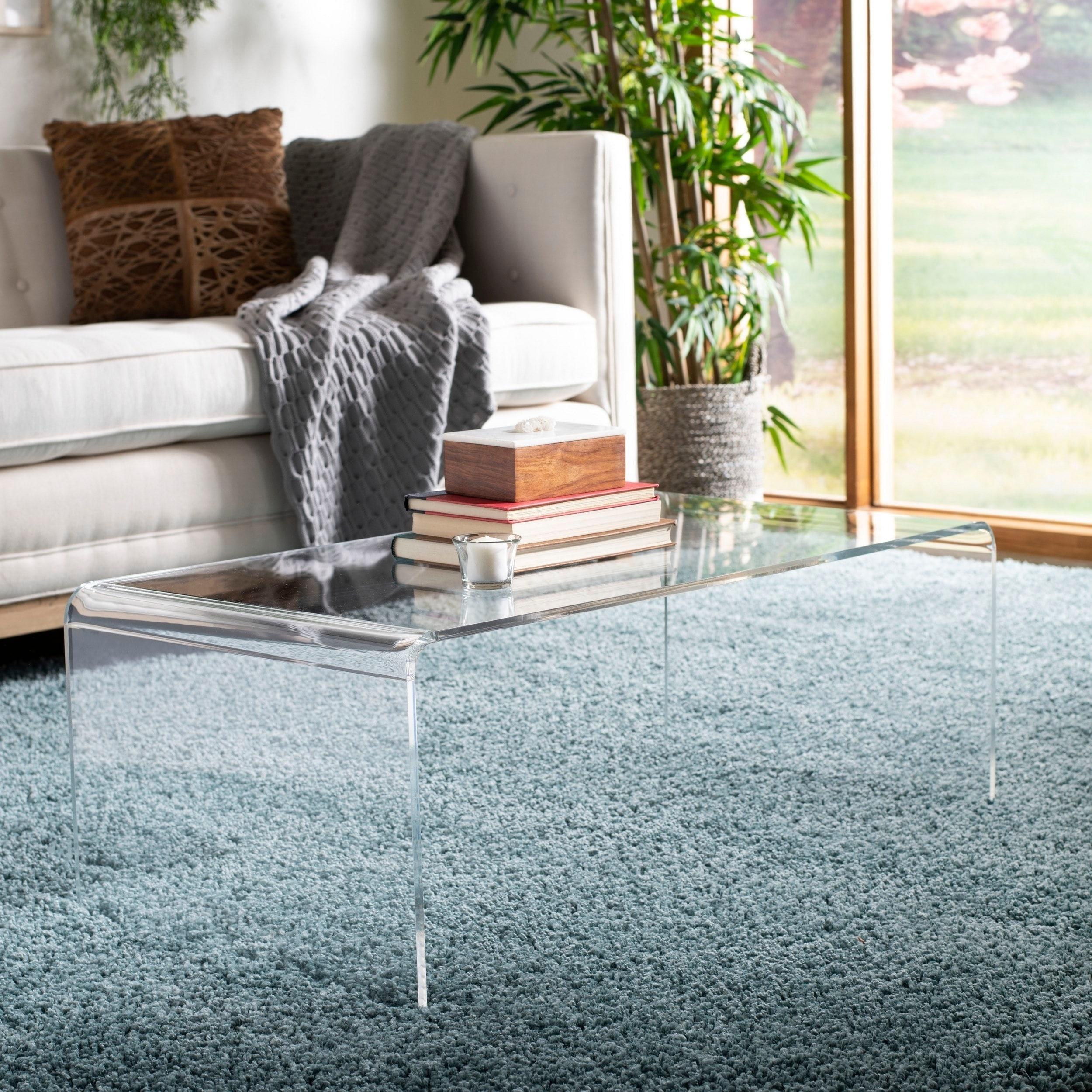 Safavieh Atka Clear Acrylic Coffee Table 35 4 X 17 7 X 13 8