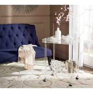 "Safavieh Healy Clear Acrylic Kitchen Cart - 25.6"" x 18.1"" x 31.1"""
