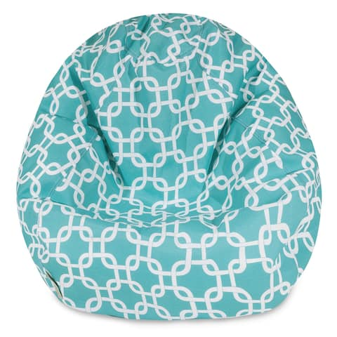 Majestic Home Goods Teal Links Small Classic Bean Bag Chair