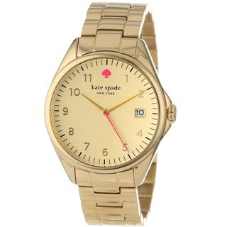 Kate Spade New York Women's 1YRU0030 'Seaport' Gold Tone Stainless Steel Watch