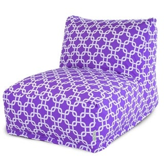 Purple Links Bean Bag Lounger Chair