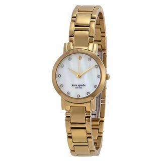 Kate Spade New York Women's 1YRU0145 'Gramercy Mini' Gold tone Stainless Steel Watch