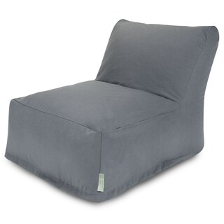 Majestic Home Goods Gray Bean Bag Lounger Chair