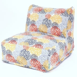 Majestic Home Goods Citrus Blooms Bean Bag Lounger Chair