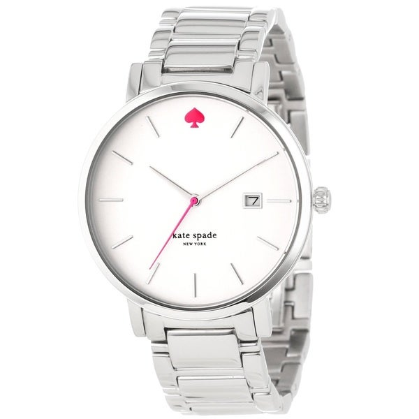 a94a1a30a Shop Kate Spade New York Women's 1YRU0008 'Gramercy' Stainless Steel Watch  - Free Shipping Today - Overstock - 9611259