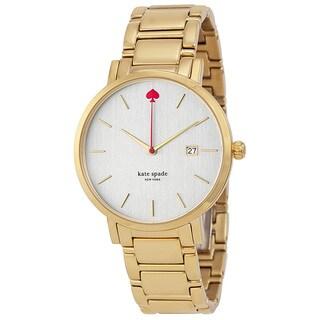 Kate Spade New York Women's 1YRU0009 'Gramercy' Gold tone Stainless Steel Watch