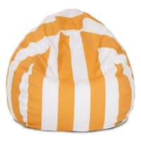 Majestic Home Goods Yellow Vertical Stripe Small Classic Bean Bag