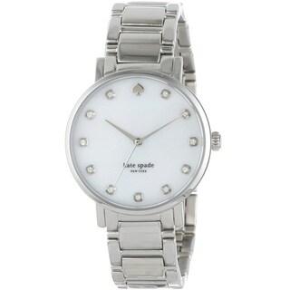 Kate Spade New York Women's 'Gramercy' Silver Stainless Steel Watch