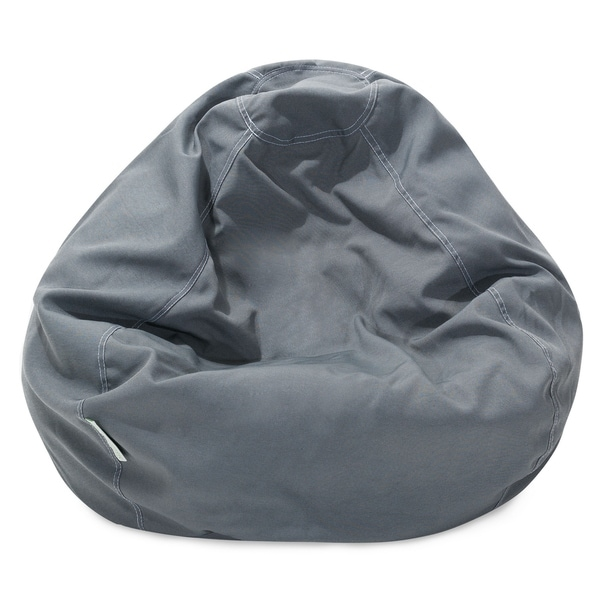 Majestic Home Goods Gray Small Classic Bean Bag Chair