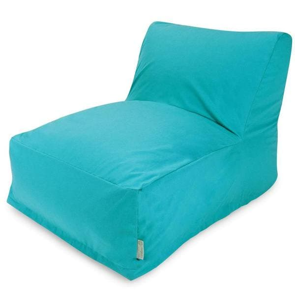 Lounger Bean Bag Chair majestic home goods teal bean bag lounger chair - free shipping