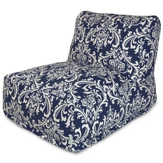 Navy Blue French Quarter Bean Bag Lounger Chair