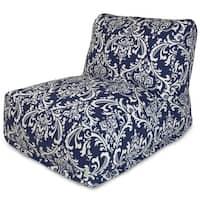 Navy Blue French Quarter Bean Bag Lounger Chair