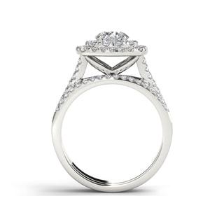De Couer 14k Gold 2ct TDW Diamond Halo Engagement Ring (H-I, I2-I3)
