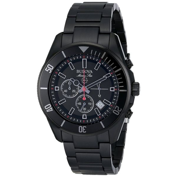 bulova men s marine star 98b231 stainless steel watch bulova men s marine star 98b231 stainless steel watch