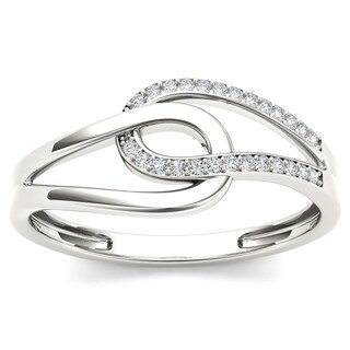 De Couer 10k Gold 1/10ct TDW Diamond Two-side Knot Fashion Ring|https://ak1.ostkcdn.com/images/products/9611307/P16796853.jpg?_ostk_perf_=percv&impolicy=medium