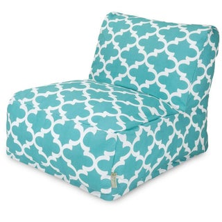 Majestic Home Goods Trellis Bean Bag Lounger Chair (Option: Teal Trellis Bean Bag Chair Lounger)